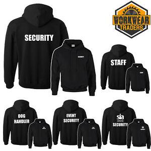 Sicherheit-Schwarzer-Kapuzenpullover-Feier-Staff-Sia-Tur-Man-Hund-Handler-Sweat