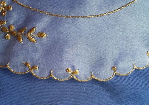 Vintage Collar White with Metallic Gold Embroidery Applique #483