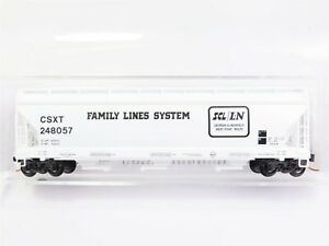 N-Scale-Micro-Trains-MTL-09400290-CSXT-Family-Lines-3-Bay-Covered-Hopper-248057