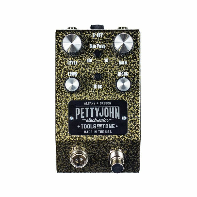 Pettyjohn Electronics Foundry Series Gold Overdrive pedal