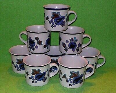 Set Of 8 Royal Doulton Lambeth Stoneware Festival Pattern Coffee Mugs Cups Ebay