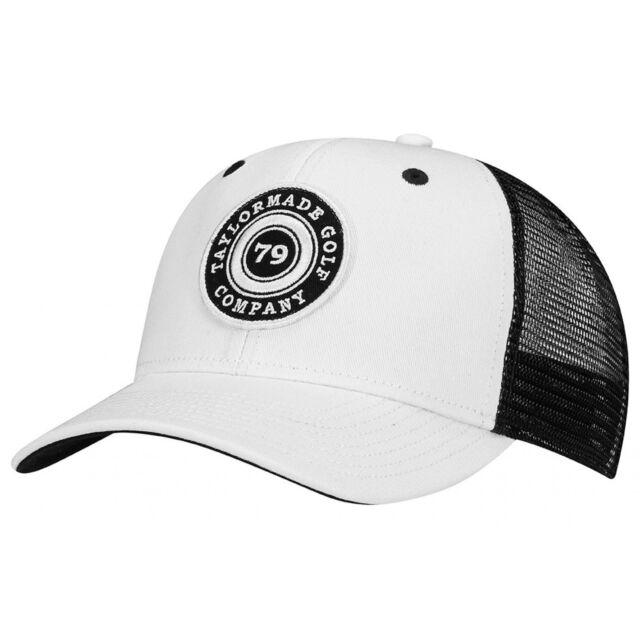 TaylorMade Golf 2017 Lifestyle Trucker Snapback Hat White black  f94d7ef1e04e