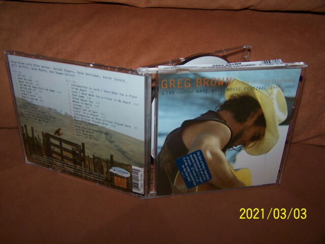 Greg Brown 2 CD In The Hills Of California