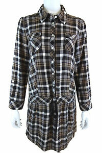 Juicy-Couture-Brown-Plaid-Dress