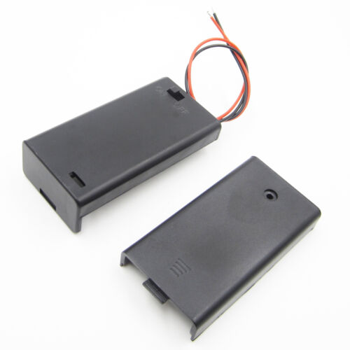 1//2//5pcs Battery Holder Box Case 2AA 2A and ON//OFF Switch and Cover 2AA battery