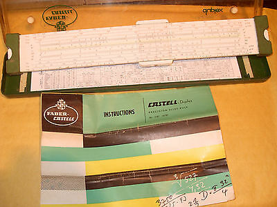 faber castell no. 2/82 precision slide rule with box and instructions. germany   ebay