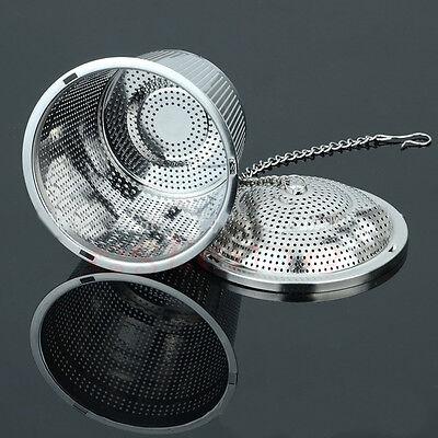 Practical Tea Ball Mesh Strainer Infuser Filter 304 Stainless Steel Herbal New
