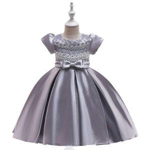 Newborn Baby Kid Girl Sleeveless Princess Tutu Dress Party Wedding Birthday ZG9
