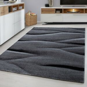 Modern Rug Black And Grey Pattern