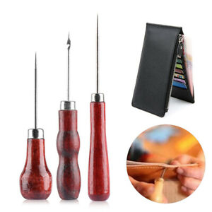 Tool-Repair-Leathercraft-Sewing-Accessories-Needle-Leather-Pin-Awl-Punch-Hole