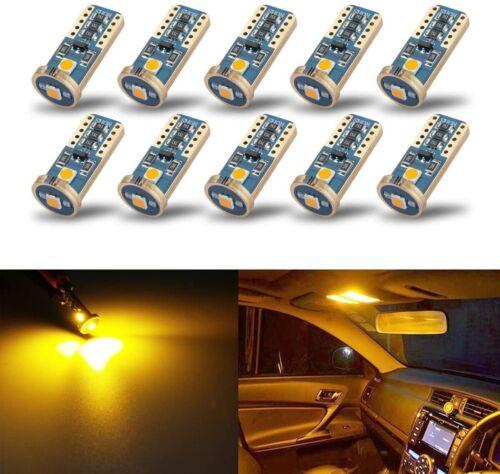 10X KISLED T10 168 194 LED Bulbs For Car Interior Dome Map Door Courtesy Plate