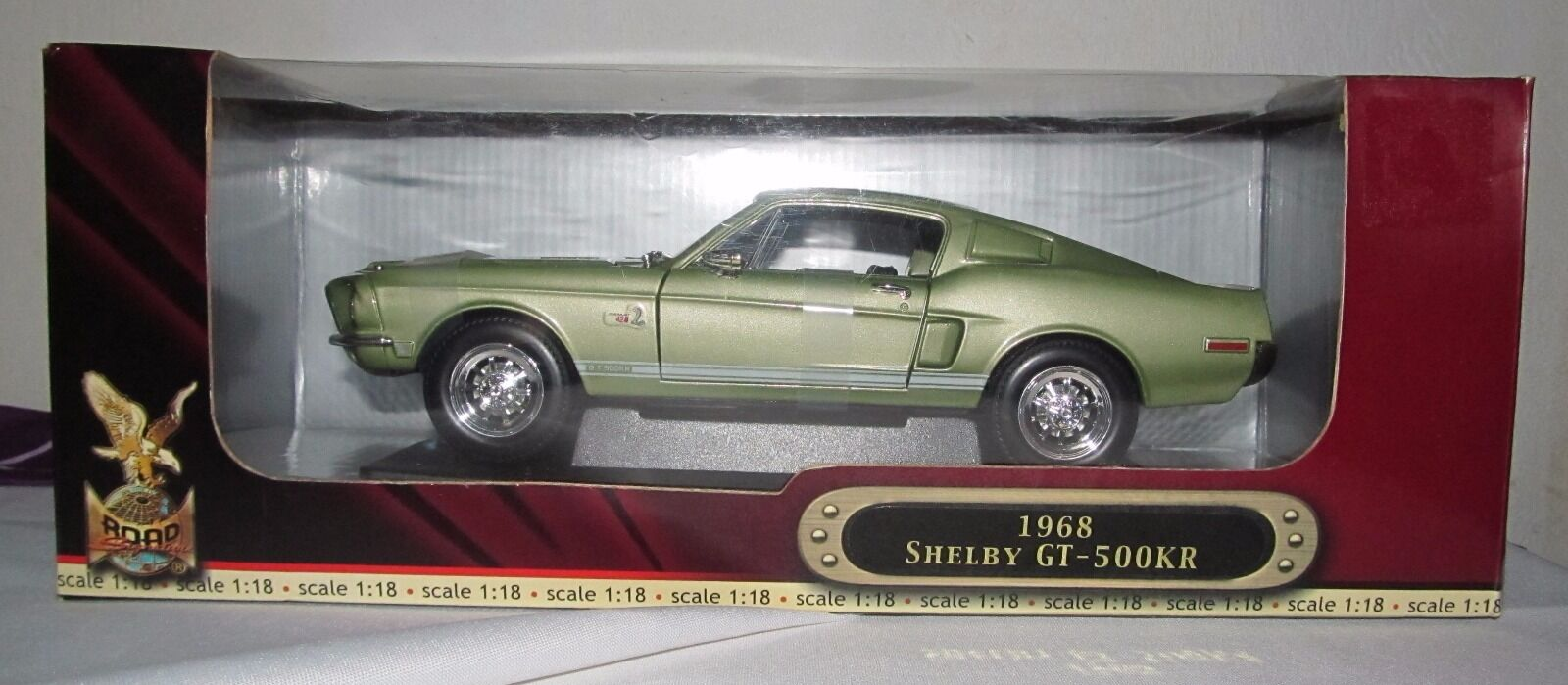 Yat Ming 68 Shelby GT-500 KR Deluxe Edition Die Cast 1 18 hecho a mano