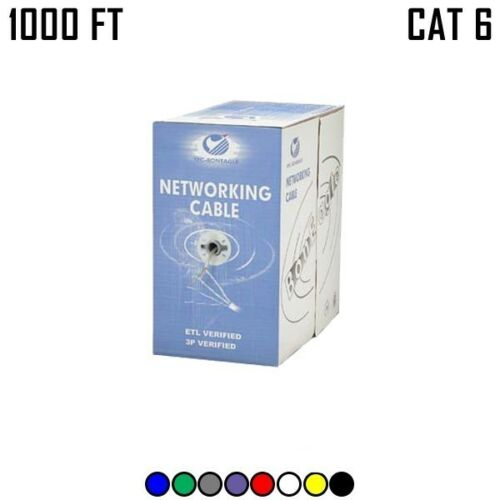 1000FT CAT6 Ethernet Network Cable Stranded Copper Wire UTP CMH PULL BOX 24AWG