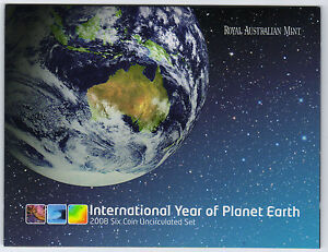 2008-RAM-Uncirculated-UNC-6-Coin-Mint-Set-Year-of-Planet-Earth