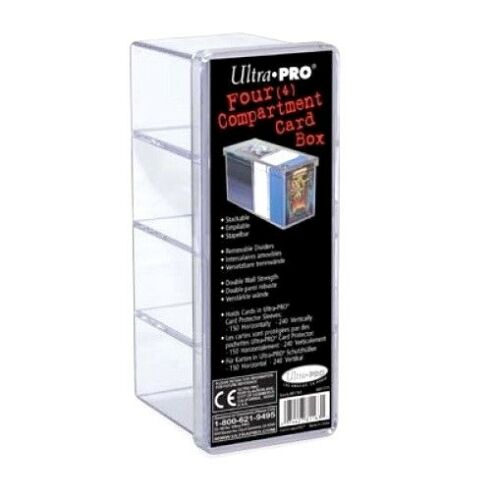 Ultra PRO 4 Compartment Storage Box Holds 240 Trading Cards
