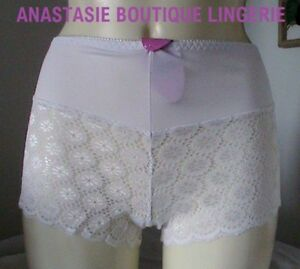 LINGERIE-SEXY-SHORTY-FEMME-GRANDES-TAILLES-DENTELLE-EXTENSIBLE-PERLEE-BLANC-50