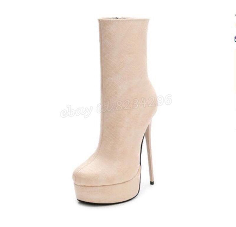 15CM Nachtclub Stiefeletten Damen Sehr Hochabsatz Ankle Stiefeletten Nachtclub Platform Stiefel Sexy Pump 879039