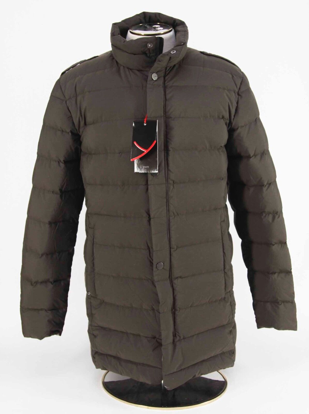NEW 595 Yeti of Germany 'Navan' Down Puffer Coat in Deep Braun Größes M Or L