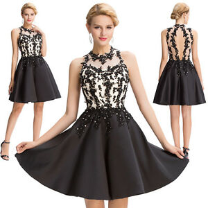 Women-Short-Dress-Evening-Party-Ball-Prom-Gown-Formal-Maxi-Cocktail-Lace-Dresses