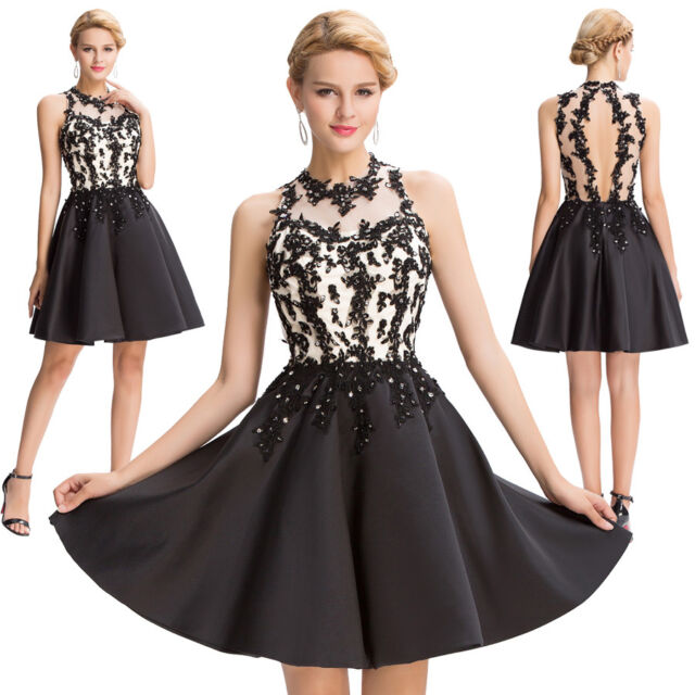 Women Short Dress Evening Party Ball Prom Gown Formal Maxi Cocktail Lace Dresses