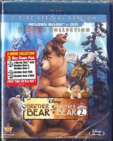 Disney Brother Bear 1 & 2 - Blu-ray + Dvd 2-movie Collection Brand