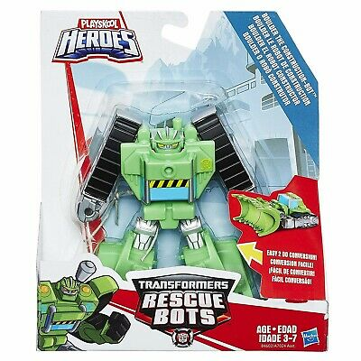 Playskool Heroes Transformers Rescue Bots Rescan Boulder Construction Bot Action