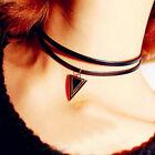 Fashion Jewelry Retro Leather Chunky Statement Bib Pendant Chain Choker Necklace