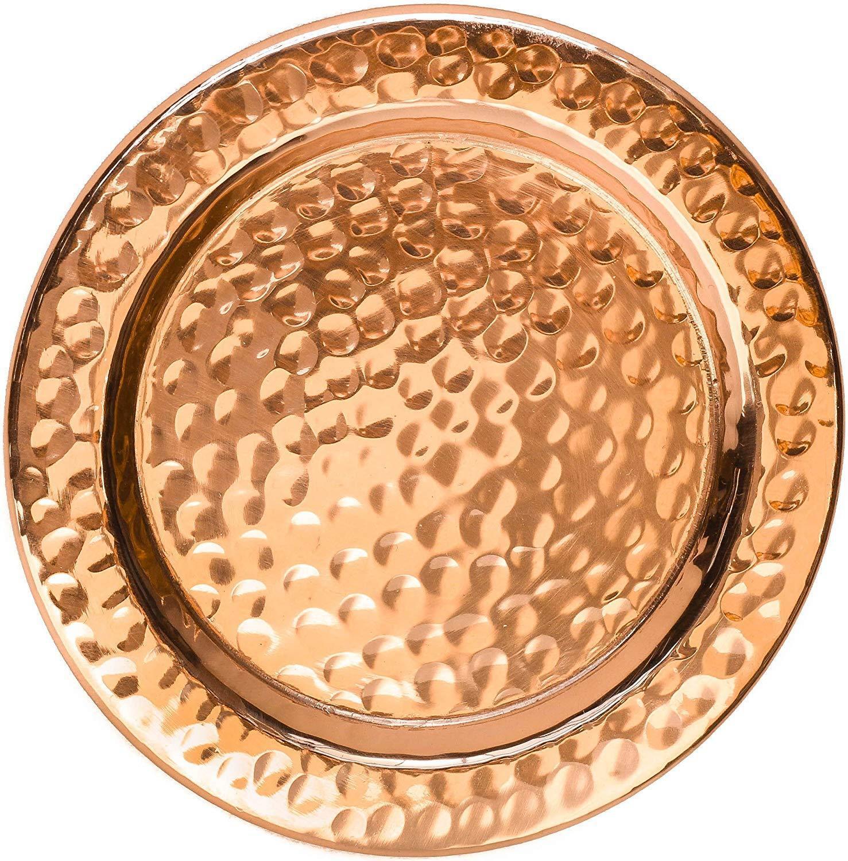 (40) en cuivre solides Coasters-Handcrafted martelé Artisan Coasters ( 299 vente au détail)