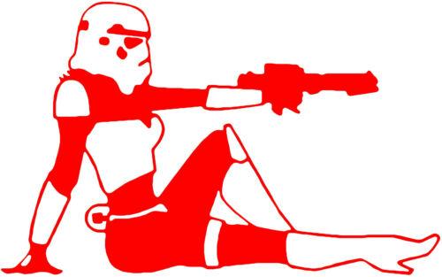 Star Wars Stormtrooper Lady Trooper Autocollant Vinyle Autocollant Voiture Ordinateur Portable