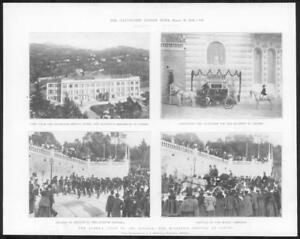 1898-Antique-Print-FRANCE-Riviera-Cimiez-Queen-Visit-Royal-Carriage-291
