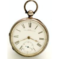 18 Size Sterling Silver Case Waltham Pocket Watch CA1890s