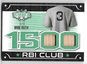 2021 Leaf Lumber BABE RUTH New York Yankees 1500 RBI Club BAT RELIC 1/1
