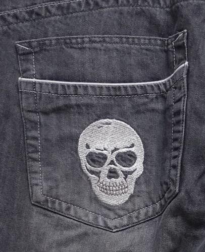 in ricamo grigio con jeans di dimensioni 54 taglia grandi oversize Nuovi da 55 di pantaloni uomo teschi UWf7wq8P