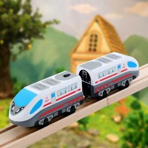Hot-Wooden-Railway-Train-Track-Children-039-s-Locomotive-Toy-Steam-Era-Freight-Train