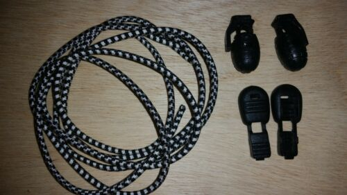 walking Great for running Shock Cord Bungee Shoe // boot  Laces hiking 2AGW