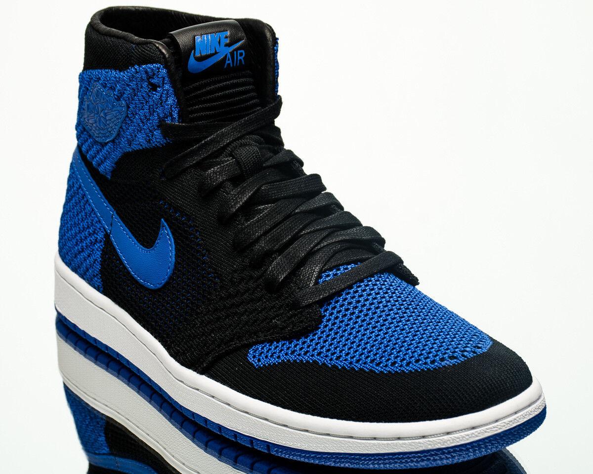 Luft Jordan 1 Retro Hoch Flyknit Königsblau Herren Lifestyle Turnschuhe Blau