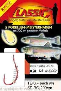Classic-Vorfachhaken-Forelle-gebundene-Teighaken-Forellenteig-Carbon-Stahl-2m