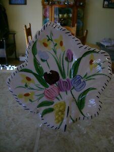 Blue-Ridge-Southern-Pottery-Vintage-Maple-Leaf-Shaped-Relish-Easter-Parade