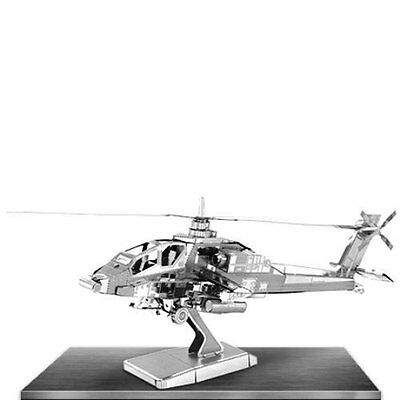 Ah-64 Apache: Metal Earth 3d Taglio Laser Elicottero Kit Modellino Miniatura