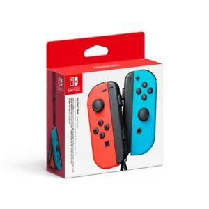 Nintendo Joy-Con Paire de Manettes de Jeu pour Nintendo Switch - Rouge Néon/Bleu