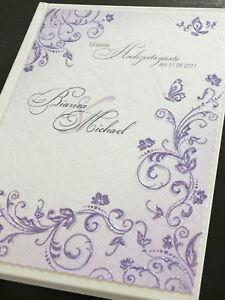 Gastebuch Lila Silber Tischdeko Hochzeitsgastebuch Deko Ebay