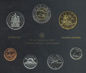 2007-Canada-7-Coin-Specimen-Set-With-Trumpeter-Swan-Dollar-COA