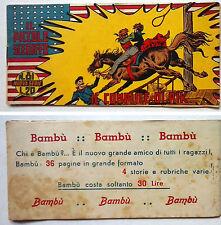 Striscia IL PICCOLO SCERIFFO IIª Serie N 81 TORELLI 1953