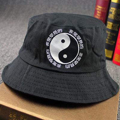 Men Women Bucket Hat Chinese Print Sun Hat Unisex Fishing Hunting Outdoor Cap