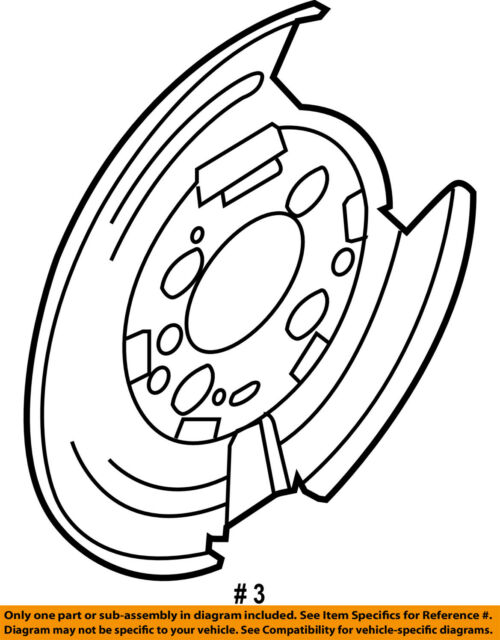 Ford Oem Parking Brake Backing Plate Cl3z2c029a Image 3 For Sale