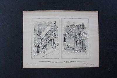 1888 Stich 12 Treppe Rathaus Jakobikirche Lübeck Profitieren Sie Klein