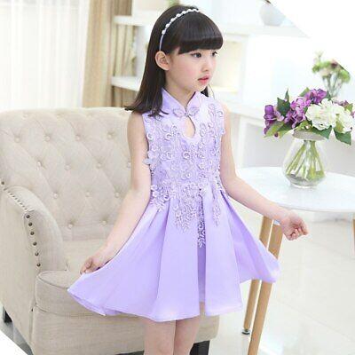 Turtleneck Princess Gown SleevelessGirls Dress  Mini Lace Toddler Girls Dresses