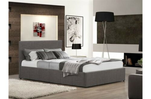 Stylish Crushed Velvet or Fabric Ottoman Bed 3FT 4FT 4FT6 5FT Mattress Options