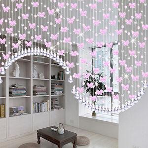 1M Glass Crystal Beads Curtain Window Door Curtain Passage Wedding Backdrop Pro