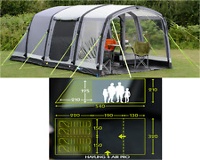 K&a Hayling 4 AIR PRO berth person man c&ing inflatable tent CT3116 - 2018  sc 1 st  eBay & Kampa Bergen 6 Air Pro 6 Berth Person Man Camping Family ...